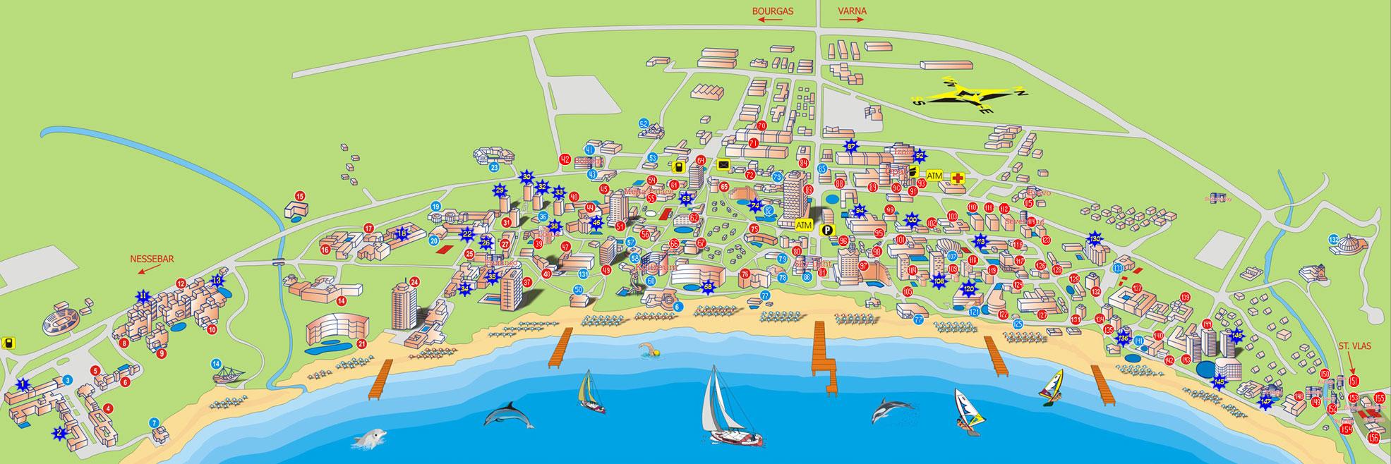 sunny-beach-map